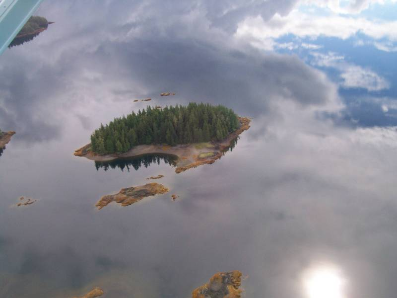 Flying Islands Or Reflections