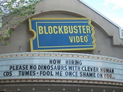 Funny Blockbuster Sign