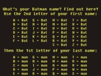 Your Batman Name